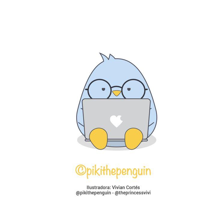 Piki nerd con su laptop