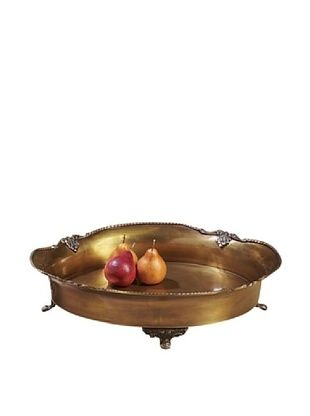 57% OFF Dessau Home Footed Tray (Antique Brass/Black)