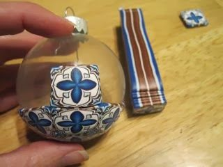 Creator's Joy: Meg Newberg's How to cover a glass ball ornament with square cane slices