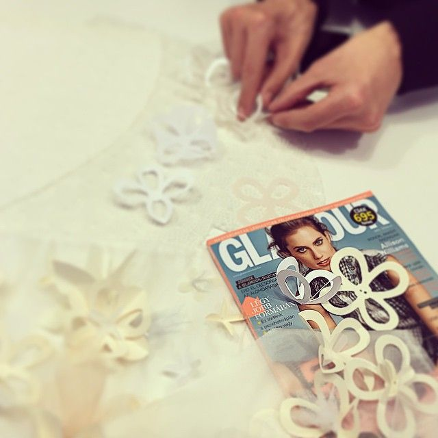 We honored of paper couture dresses for the Glamour Women of the Year gala with MERO. // Edinas Paper Installations