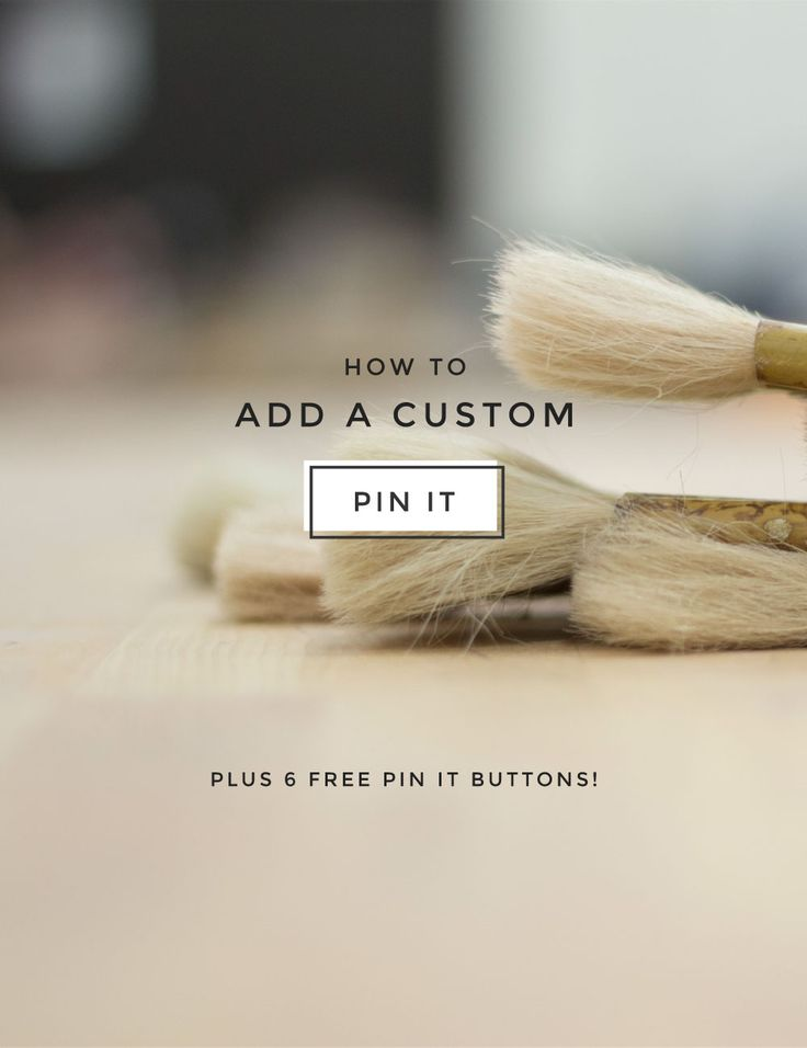 How to Add a Custom Pin It Button to WordPress - Creatives in Transit