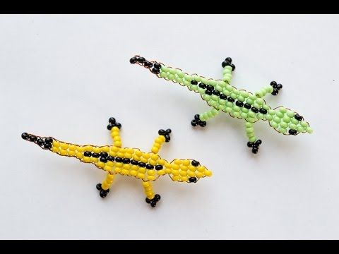 Beaded Lizard / Ящерица Из Бисера Схема Для Начинающих