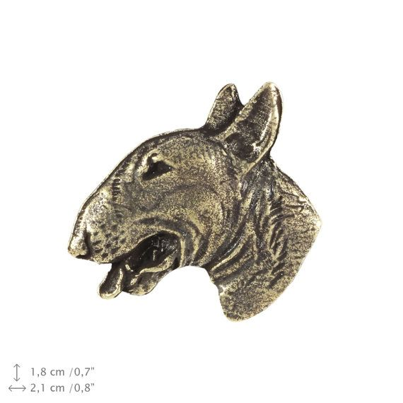 Bull Terrier gold&head dog pin limited edition by ArtDogshopcenter