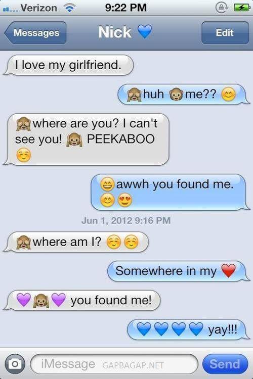 Hilarious Emoji Text Message About Girlfriend