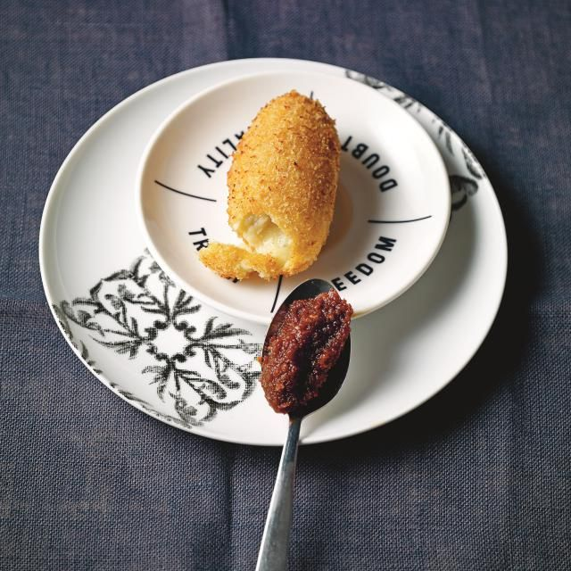 This easy croquette recipe combines three types of cheese with potato and spices for a meat-free morsel that'll satisfy any snack craving.
