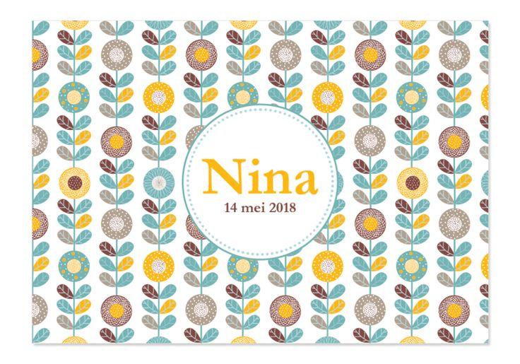 Geboortekaartje Nina -Kaartjes en Co