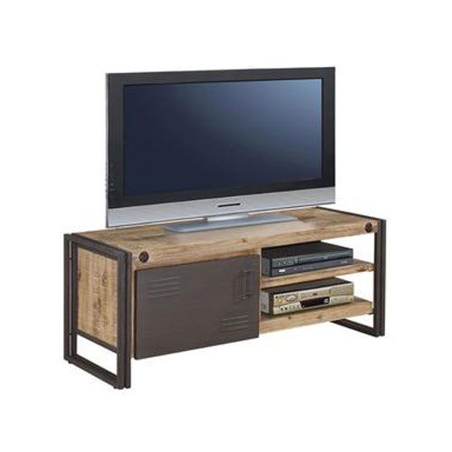 Moeu0027s Home Collection Brooklyn Small TV Table   Natural / Gray   Hip  Brooklyn Style Doesnu0027t Have To Be Something You See Only On TV.