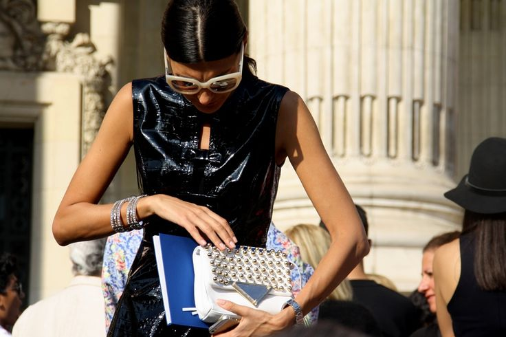 Leather and studs. Paris Fashion Week Streetstyle, by Lois Spencer-Tracey of Bunnipunch