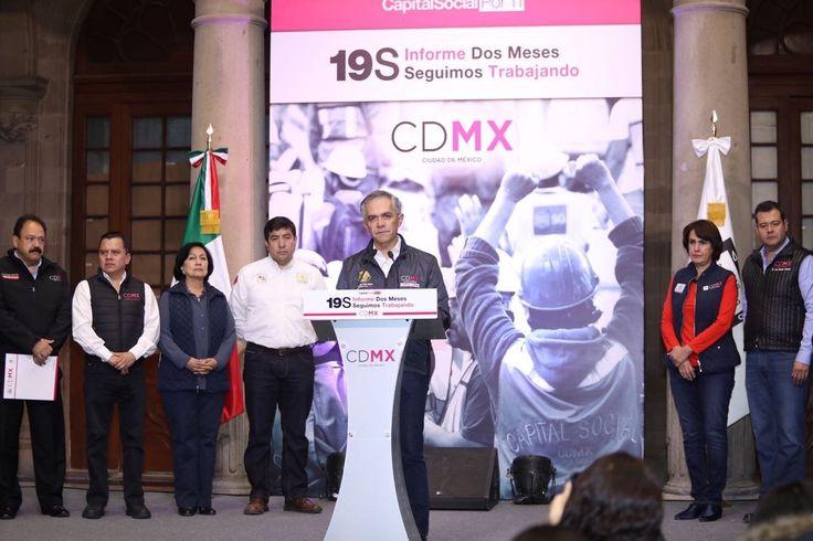 Avanzan acciones de reconstrucción de CDMX a dos meses del sismo