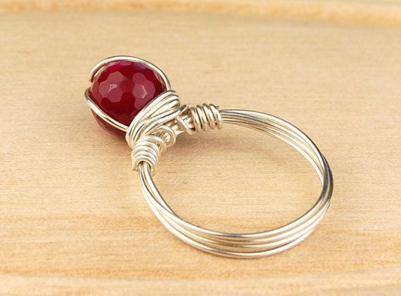 Sterling Silver Filled Wire Wrap Ring with by SimplyCharmed21