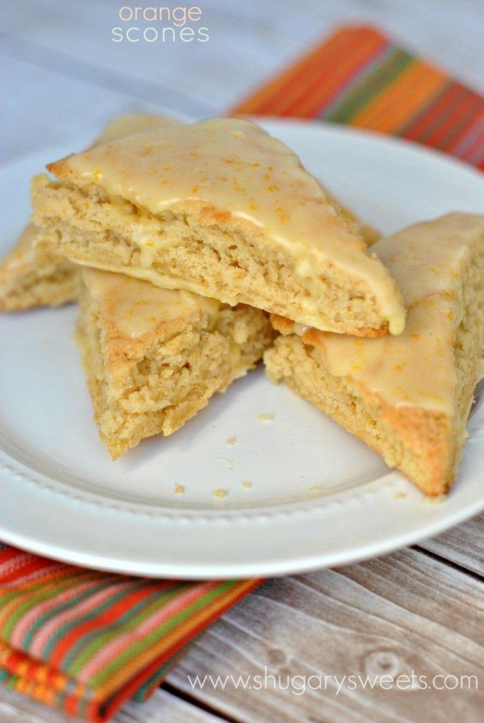 Orange Scones: copycat Panera recipe