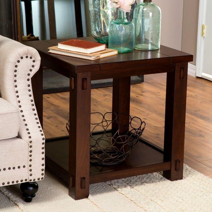 Narrow Sofa End Table