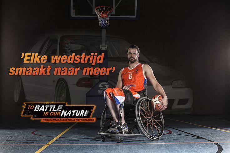 Frank de Jong - Wheelchair Basketball Netherlands 'To battle is our nature' Rolstoelbasketbal 'Every game I long for more' http://www.greatmatch.nl/avada_portfolio/nbb-rolstoelbasketbal-to-battle-is-our-nature/?utm_content=buffer3045d&utm_medium=social&utm_source=pinterest.com&utm_campaign=buffer#prettyPhoto