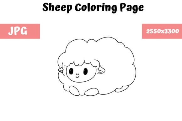 Sheep Coloring Book Page For Kids Graphic By Mybeautifulfiles Creative Fabrica In 2020 Coloring Books Coloring Pages For Kids Mermaid Coloring Pages