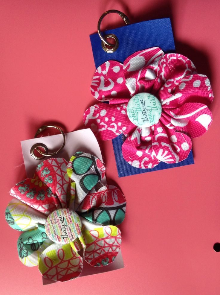 A fun way to use all of those discontinued swatches. I used these as bag ID tags for Thirty-one National Conference this year.