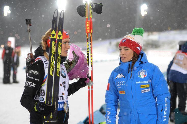 International Biathlon Union / Clean-Shooting Soukalova Takes Sprint