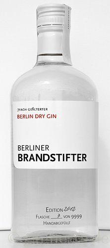 Berliner Brandstifter - Berlin Dry Gin (Beer Bottle Logo)