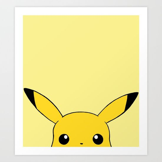 Peek a boo pika chu Art Print by Jessica Wray. Worldwide shipping available at Society6.com. Just one of millions of high quality products available.