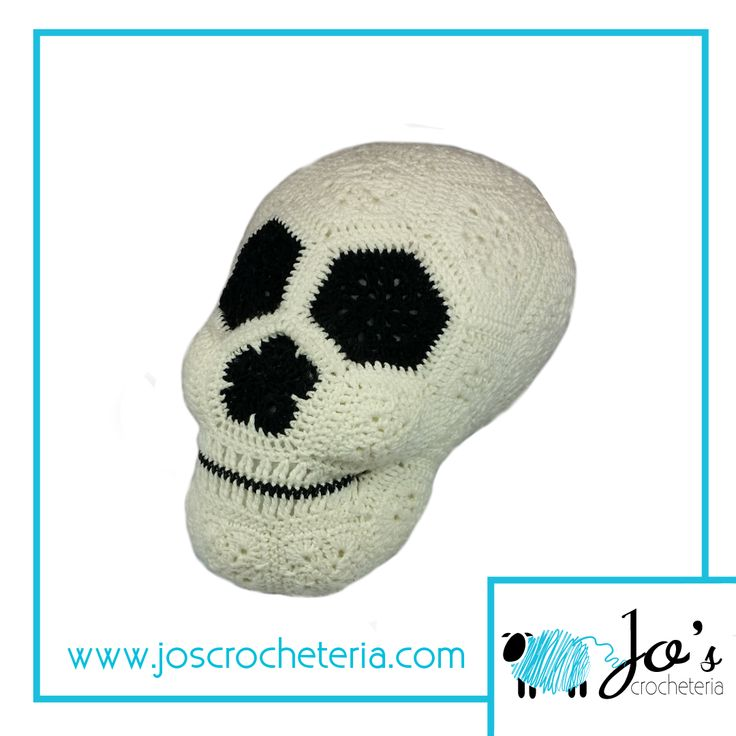 Lucy the African Flower Skull Crochet Pattern available on  https://www.etsy.com/se-en/listing/158469308/crochet-pattern-lucy-the-african-flower?ref=shop_home_active_28  #crochetpattern #crochetafricanflowerpattern #crochetskull #crochethalloween #crochetafricanflowercrochetpattern #africanflowerhexagon #crochet