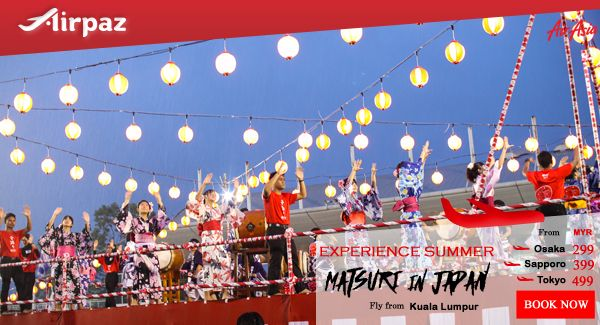 Discover Japan with AirAsia Matsuri in Japan promotion on Airpaz. Take your friends to experience summer matsuri in japan together, there are countless local matsuri in Japan ! Book Now ! More Info : http://ow.ly/AFpR300X8UG  #CheapFlights #Promo #AirAsia #Airpaz #Travel #Malaysia #Japan #Matsuri