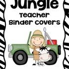 "Jungle Teacher Binder Covers, 2"" Spines, and Student Folder/Binder Covers.    Are you looking to get organized? I've created this set of binder cover..."