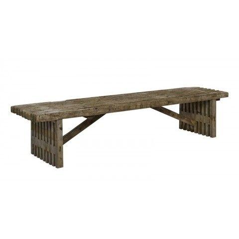 PLUS TRALLEBÆNK 49X220X45 CM UBEHANDLET - Bord-bænkesæt - Møbler - Havemøbler - Køb det online hos BAUHAUS her