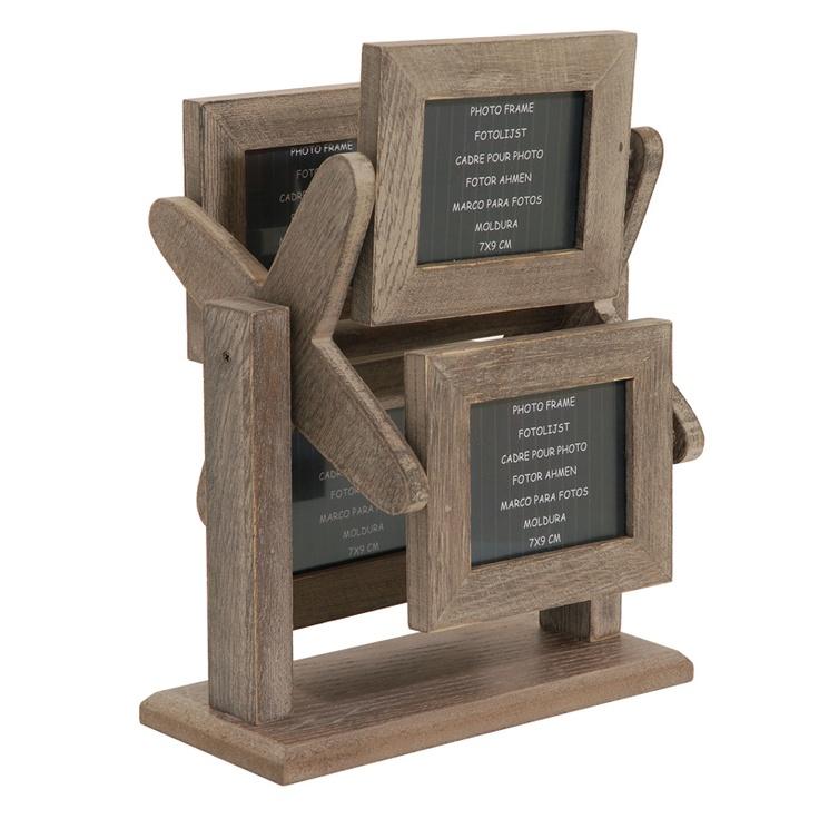 Porte photos en bois rustique tournant Goaso