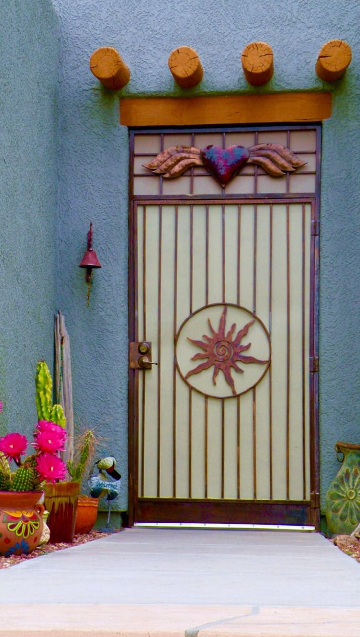 Southwestern style door in Tucson Arizona. - by ScenicSW & 234 best Doors of the southwest and Mexico images on Pinterest ...