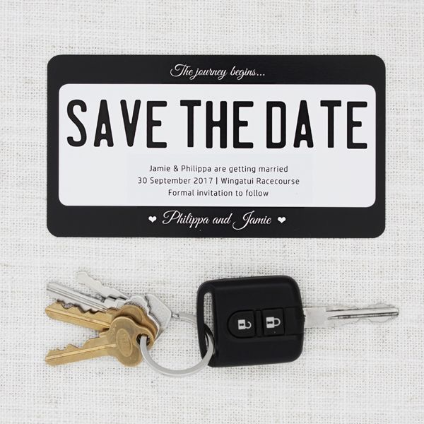 Personalised Plate Save the Date for Car Lovers