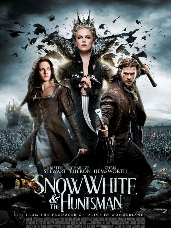 SNOW WHITE & THE HUNTSMAN with Kristen Stewart, Charlize Theron & Chris Hemsworth (!!)