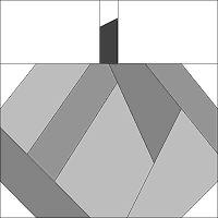 4 1/2 pumpkin - paper piecing