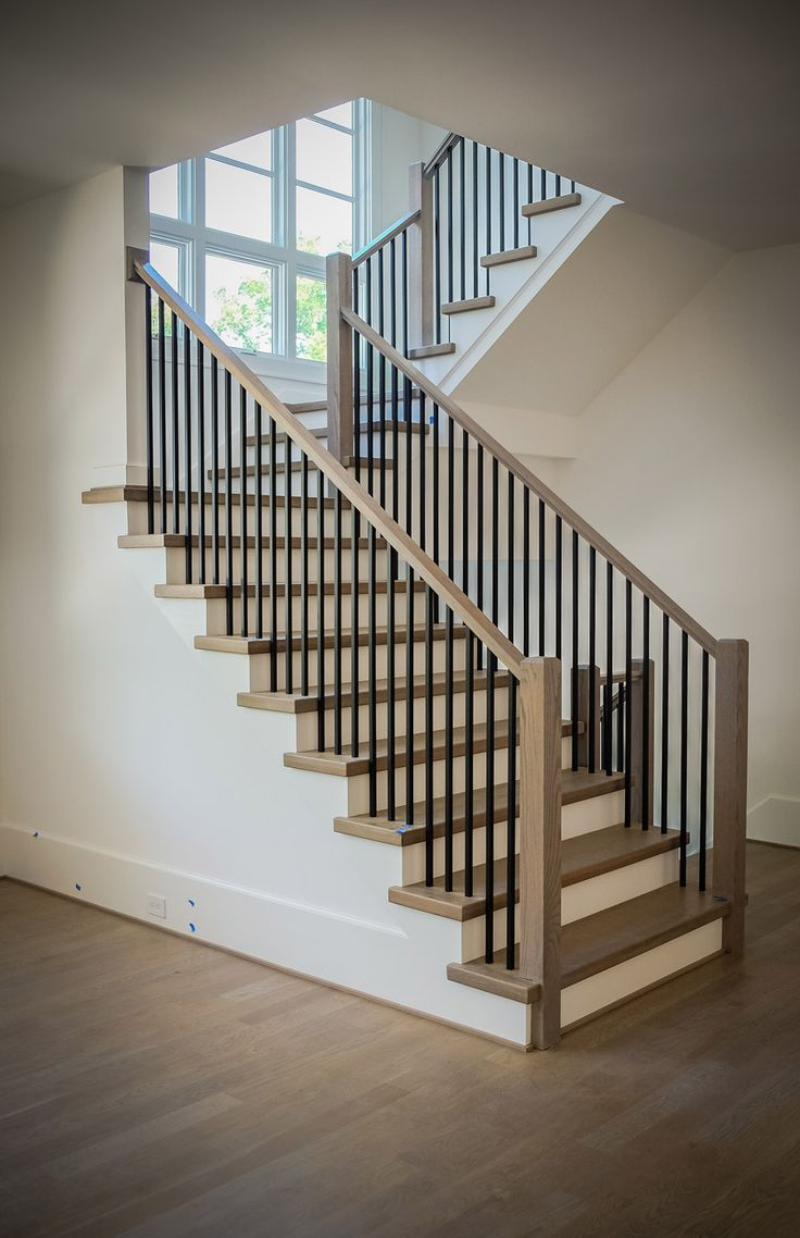 Metal Baluster Stairs In 2019 Stair Railing Design