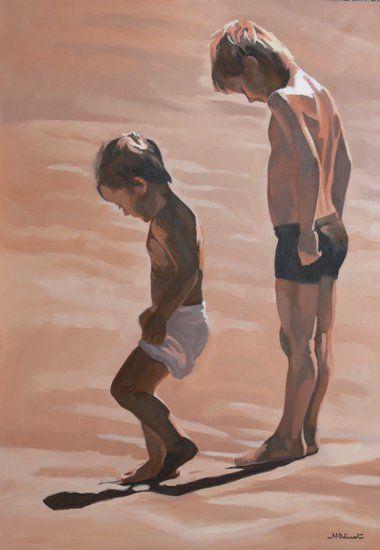 Nicolas Odinet, « En arrivant sur le sable chaud »