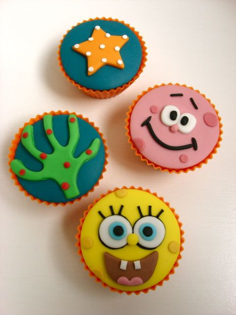 Spongebob Cupcakes - so sad, my son is growing up, no more hysterical laughter from watching Spongebob!