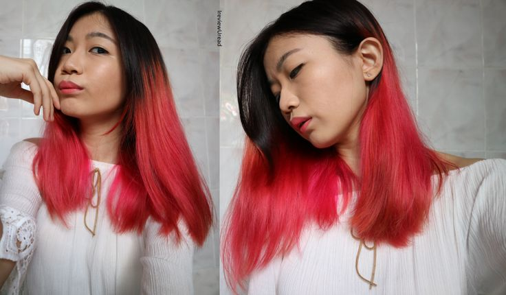 Asian PInk Ombre hair from J&J Hair Identity Hair Salon | Organic Hair salon revoew | Organic Hair dye | tumblr ahir | PInk and black hair | asian coloured hair