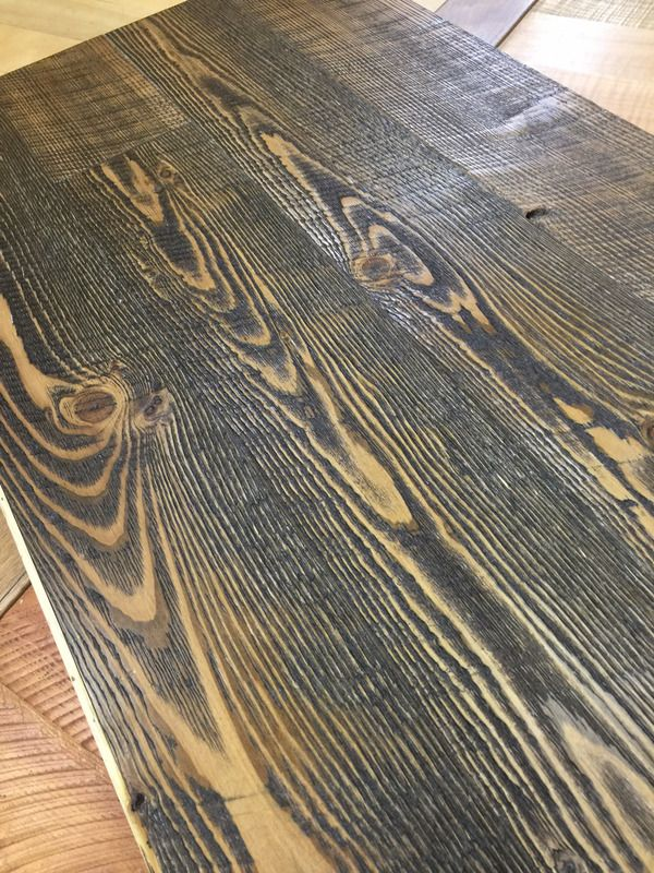 Best Prefinished Circle Sawn Fir Flooring In Medium Brown Stain 400 x 300