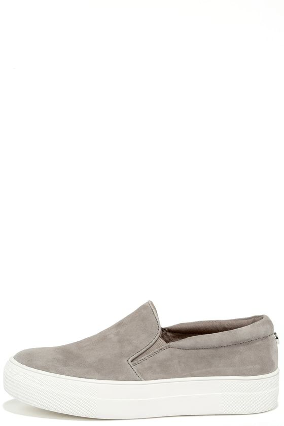 c0987a4b55b Gills Grey Suede Leather Flatform Sneakers