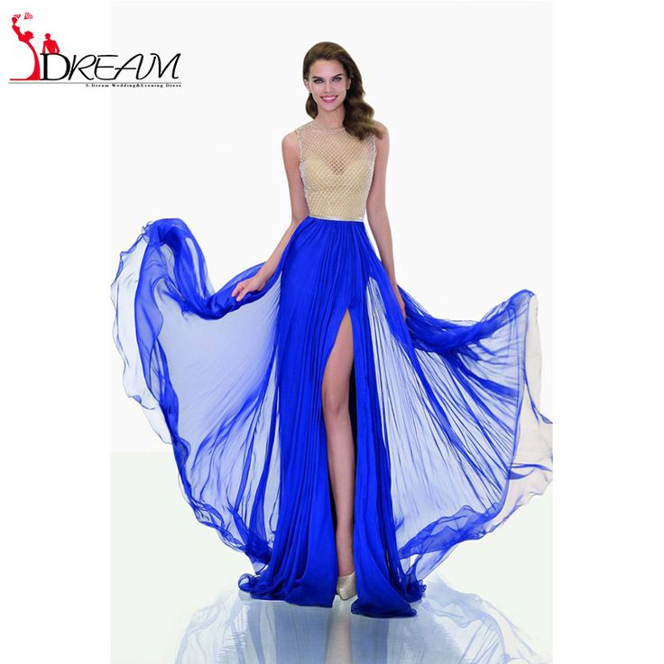 2016 New Arrival Long Prom Dresses Sexy illusion Sweetheart Tank Sleeveless High Slit Formal Evening Dresses Party Gowns