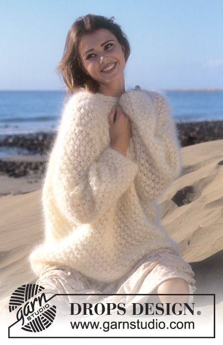 DROPS 56-13 - DROPS Sweater in Vienna in blackberry stitch - Free pattern by DROPS Design