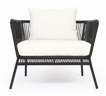 Ce fauteuil de jardin fil noir et blanc Mexico et coussin ivoire apporte une touche d'originalité à votre terrasse. Très tendance, ce fauteuil de jardin fil scoubidou noir s'inspire du célèbrefauteu