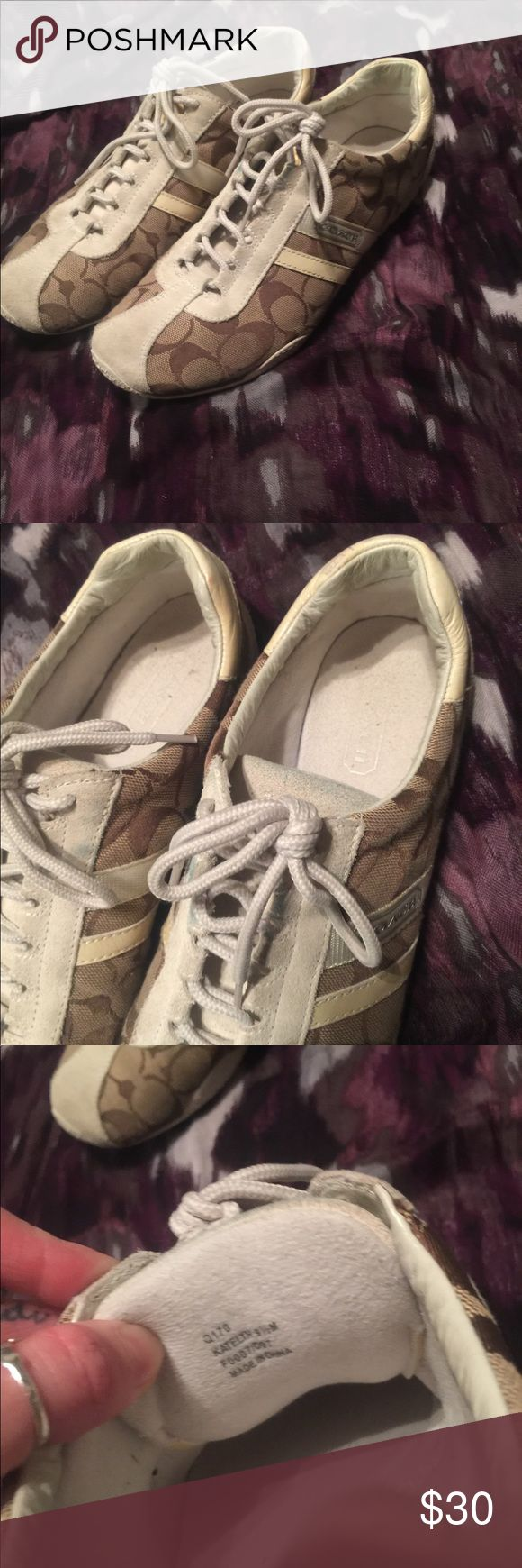 Coach tennis shoes. Still have so much life! Coach Shoes Sneakers