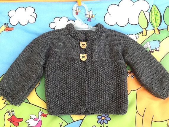Manteau bébé laine tricot