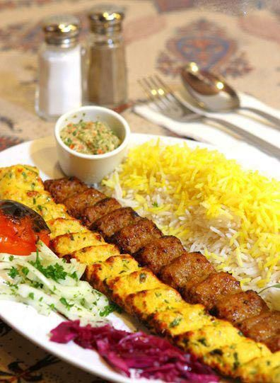 Kabab koobideh (Persian: کباب کوبیده‎) or kūbide (Persian: کوبیده‎) is an Iranian minced meat kabab which is made from ground lamb, beef or chicken, often mixed with parsley and chopped onions.