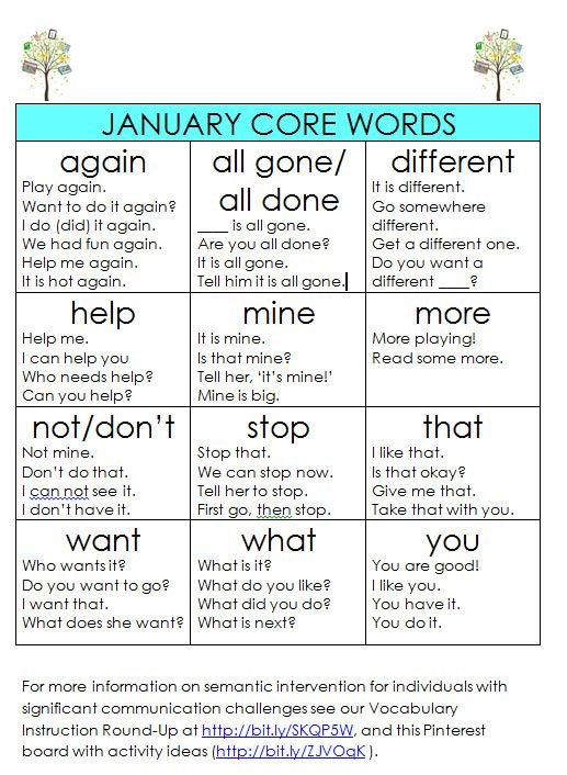 Strengthening the Core: Modeling January Words