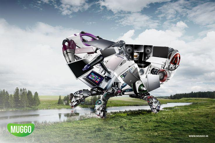 Advertising concept for Muggo Electro. http://www.hellodesign.sk/reklama-kreativa-koncept-muggo