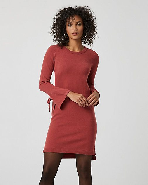5eeab736d53e Tie Sleeve Sweater Dress