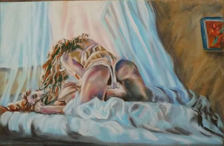 Buy Pastel girls, Pastel drawing by Anna  Sasim on Artfinder. Discover  original erotic art for sale, paintings, prints and photography from independent artists. Soft pastel art on Pastelmat paper,  woman drawing, woman painting.