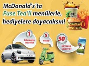 McDonalds Fuse Tea Çekiliş Kampanyası - McDonald's Fuse Tea Volkswagen New Beetle Çekilişi