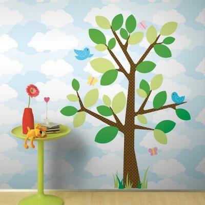 Gepunkteter Baum Wandsticker