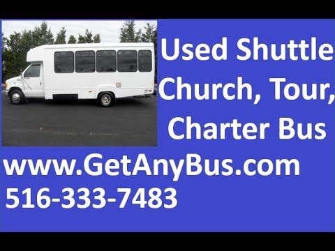 Preowned Wheelchair Shuttle Buses For Sale | 2003 Ford E450 Wheelchair Shuttle Bus For Sale